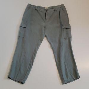 New Ecru Vernon Linen Cargo Pants Size 12